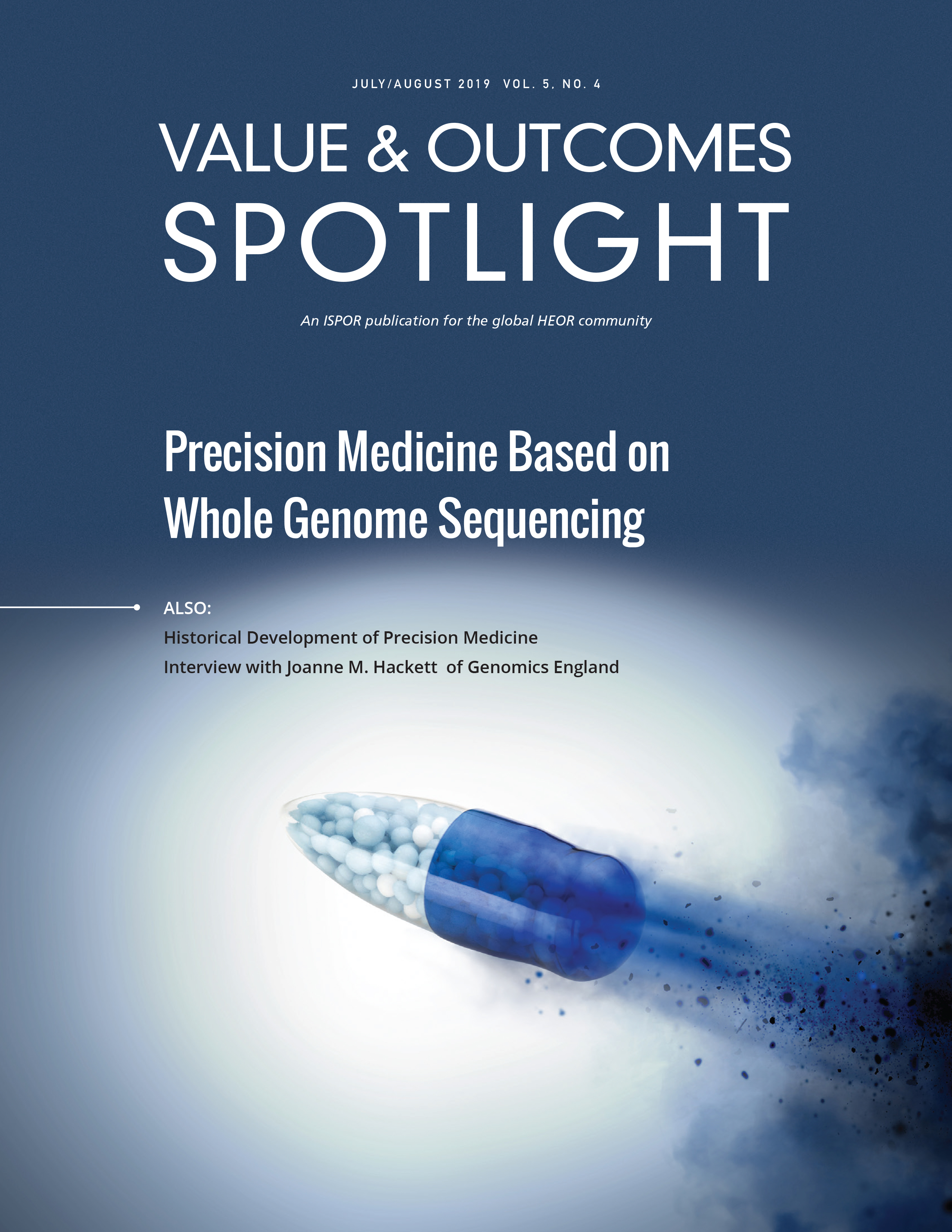 Value & Outcomes July/August 2019 Cover - Precision Medicine Based On Whole Genome Sequencing